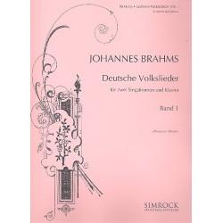 Brahms, Johannes: Deutsche Volkslieder Band 1 : für eine Frauen- und eine Männerstimme und Klavier (dt)