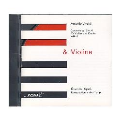 Vivaldi, Antonio: Concerto a-Moll op.3,6 : CD (Violine und Klavier)