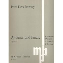 Tschaikowsky, Peter Iljitsch: Andante und Finale op.79 für Klavier und Orchester : für 2 Klaviere