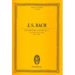 Bach, Johann Sebastian: Suite C-Dur Nr.1 BWV1066 : für 2 Oboen, Fagott, Streicher und Bc Studienpartitur