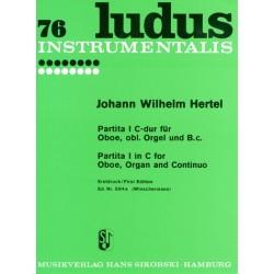 Hertel, Johann Wilhelm: Partita C-Dur Nr.1 : für Oboe, Orgel und Bc