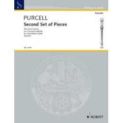Purcell, Henry: Second Set of Pieces from the Faerie Queen für 4 Blockflöten (SSAB) Partitur