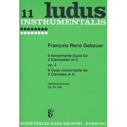 Gébauer, Francois-Réné: 6 konzertante Duos op.2 für 2 Klarinetten in C Spielpartitur