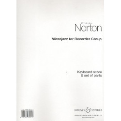 Norton, Christopher: Microjazz for recorder group : 8 pieces in popular styles for 3 recorders (SSA) and keyboard (guitar)