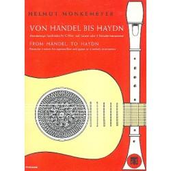 Von Händel bis Haydn : Dreistimmige Spielstücke für Blockflöte und Gitarre Spielpartitur