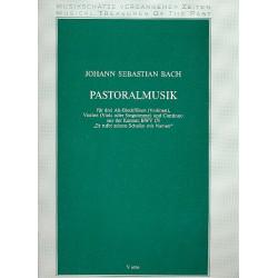 Bach, Johann Sebastian: Pastoralmusik BWV175 : für 3 Altblockflöten (Violinen), Violine (Viola, Singstimme), Bc Partitur und 5