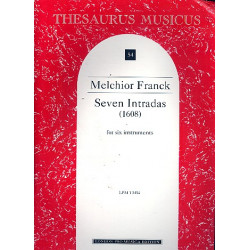 Franck, Melchior: 7 intradas : for 6 instruments score