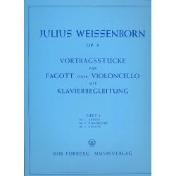 Weissenborn, Julius: Vortragsstücke op.9 Band 1 : für Fagott und Klavier