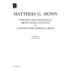 Monn, Matthias Georg: Konzert g-Moll : für Violoncello und Orchester Studienpartitur