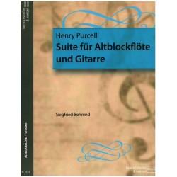 Purcell, Henry: Suite : für Altblockflöte und Gitarre Spielpartitur - Kopie