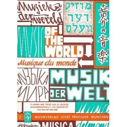 Maurer, Walter: Musik der Welt Band 2 : für Akkordeonorchester Akkordeon 1 (solo)