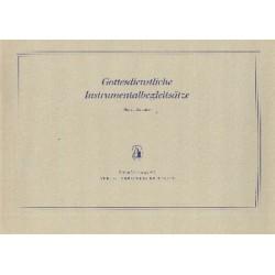 Schlenker, Manfred: Gottesdienstliche Instrumentalbegleitsätze : für Orgel