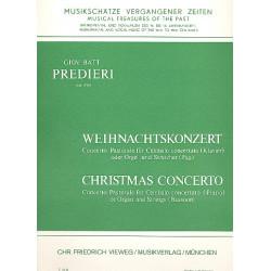 Predieri, Giovanni Battista: Weihnachtskonzert : für Cembalo (Orgel/Klavier) und Streicher Partitur ( Cembalo/Orgel/Klavier)