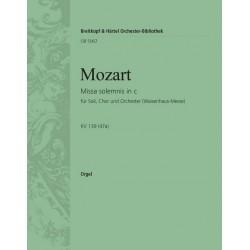 Mozart, Wolfgang Amadeus: Missa solemnis c-Moll KV139 : SATB Soli, SATB Chor und Orchester, WAISENHAUSMESSE ORGEL
