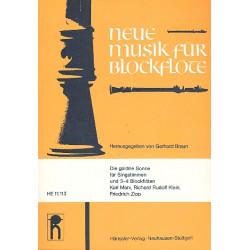 Die güldene Sonne : für Singstimme und 3-4 Blockflöten Spielpartitur