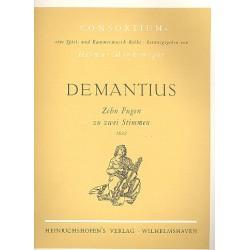 Demantius, Christoph: 10 Fugen zu 2 Stimmen : f├╝r 2 Violinen Spielpartitur