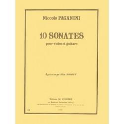 Paganini, Nicolò: 10 sonates : pour violon et guitare