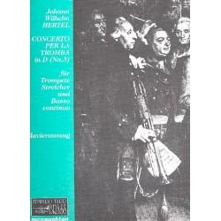 Hertel, Johann Wilhelm: Concerto per la tromba D-Dur Nr.3 für Trompete, Streicher und Bc für Tompete und Klavier