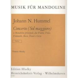 Hummel, Johann Nepomuk: Konzert G-Dur : für Mandoline und Orchester Partitur