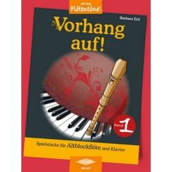 Ertl, Barbara: Vorhang auf Band 1 : für Altblockflöte und Klavier
