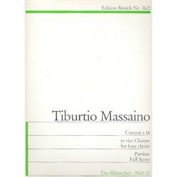 Massaino, Tiburtio: Canzon a 16 in 4 Chören für Blockflötenchor, (Streicher, Blechbläser) Partitur
