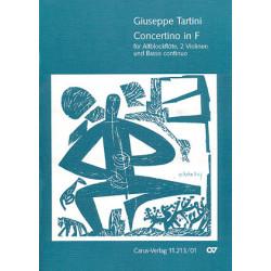 Tartini, Giuseppe: CONCERTINO F-DUR : FUER ALTBLOCKFLOETE, 2 VIOLINEN UND BC, PARTITUR