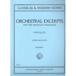 Orchestral Excerpts from the symphonic Repertoire vol.1 : for flute