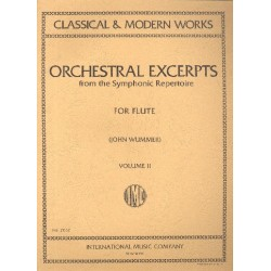 Orchestral Excerpts from the symphonic Repertoire vol.2 : for flute