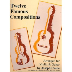 12 famous Compositions : for violin and guitar
