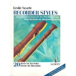 Searle, Leslie: Recorder Styles : Begleitheft für die Rhythmusgruppe, mit eingelegter Schlagzeugstimme
