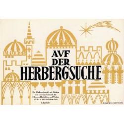 Leemann, Heinrich: Auf der Herbergsuche : für 2 Sopranblockflöten und Violine ad lib. in sehr einfachem Satz, Partitur (dt)