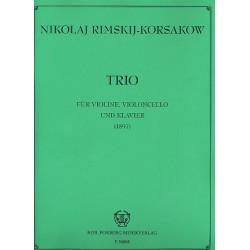 Rimski-Korsakow, Nicolai: Trio für Violine, Violoncello und Klavier Partitur und Stimmen