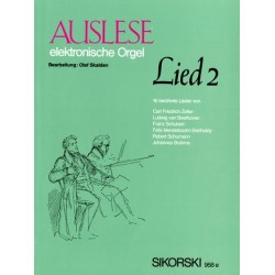 Auslese Lied Band 2 : 16 ber├╝hmte Lieder f├╝r E-Orgel