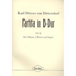 Ditters von Dittersdorf, Karl: Partita B-Dur Nr.9 : f├╝r 2 Oboen, 2 H├Ârner und Fagott Partitur und Stimmen