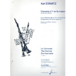 Stamitz, Karl: Concerto no.1 fa majeur (F-Dur) pour 4 clarinettes parties