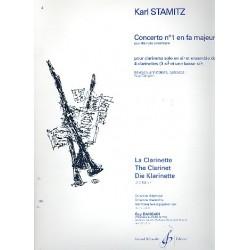 Stamitz, Karl: Concerto no.1 fa majeur (F-Dur) : pour 4 clarinettes parties