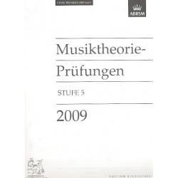 Musiktheorie Pr├╝fungen 2009 Stufe 5