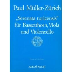 Müller, Paul: Serenata turicensis : Trio für Bassetthorn, Viola und Violoncello Partitur und Stimmen