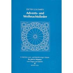Advents- und Weihnachtslieder : für gleiche Stimmen (in leichten 2+3stim. Sätzen zum Singen/Spielen