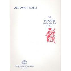 Vivaldi, Antonio: 6 sonates : per violoncello solo col basso