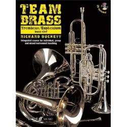 Duckett, Richard: Team Brass (+CD) : für Posaune / Euphonium (Bariton) im Baßschlüssel