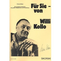 Kollo, Willi: F├╝r Sie von Willi Kollo : Klavier-Album