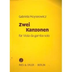 Moyseowicz, Gabriela: 2 Kanzonen für Viola da gamba