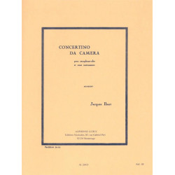 Ibert, Jacques: Concertino da camera : pour saxophone alto et 11 instruments partition miniature