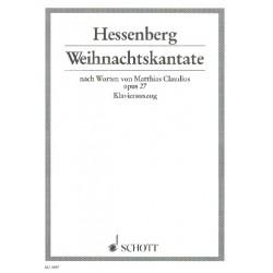 Hessenberg, Kurt: Weihnachtskantate op.27 : für Soli (SA), gem Chor und kleines Orchester Klavierauszug (dt)