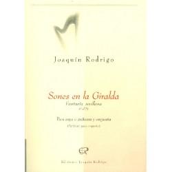 Rodrigo, Joaquin: Sones en la Giralda : für Harfe (Gitarre) und Orchester Studienpartitur