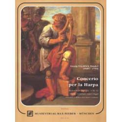 Händel, Georg Friedrich: Konzert B-Dur op.4,6 für Harfe (Cembalo, Orgel), Streicher, 2 Flöten und Bc, Partitur