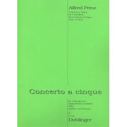 Prinz, Alfred: Concerto à 5 für 3 Klarinetten, Baßklarinette und Klavier