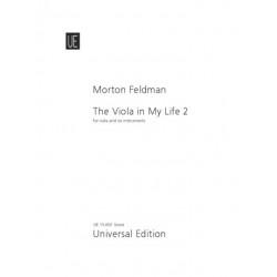 Feldman, Morton: The Viola in my Life vol.2 : for viola solo, flute, clarinet, violin, cello, percussion and piano score