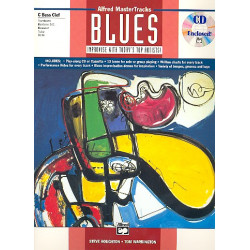 Alfred Master Tracks Blues (+CD) : for bass instruments (C bass clef)